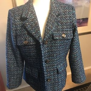Joan Rivers Tweed Blazer- Lined and well made 10